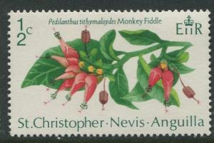 St. KITTS-NEVIS-Scott 238-QEII -Flowers-1971- MNH - Single 1/2c Stamp