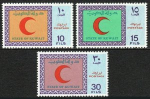 Kuwait 506-508, MNH. Intl. Red Crescent and Red Cross Day, 1970