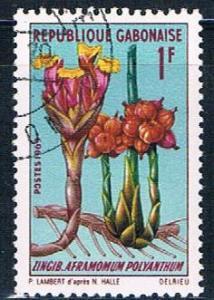 Gabon 244 Used African plant ul 1969 (G0311)+