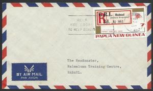 PAPUA NEW GUINEA 1974 local cover Rabaul RED CROSS slogan..................25693