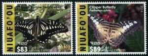 HERRICKSTAMP NEW ISSUES NIUAFO'OU Sc.# CE10-11 Butterflies Part 3