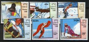 Laos 1988, Olympics Calgary 88 full set MNH