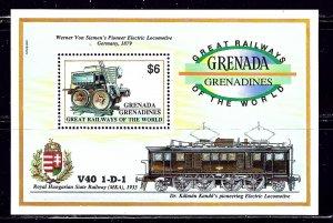 Grenada-Grenadines 1382A MNH 1992 Locomotives    (ap2299)