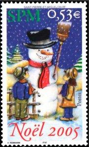 St. Pierre and Miquelon #815 MNH CV$1.75 Christmas Noel 2005 [148687]