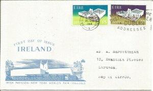 Irish Pavilion Worlds Fair New York 1964-1965 Ireland EIRE First Day Cover U2532