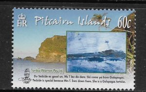 PITCAIRN ISLANDS,698, MNH, ISLAND SITES & CHILDREN DRAWINGS