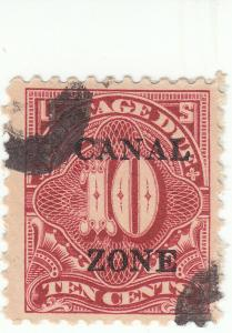 Canal Zone, Scott #J20 - 10c Carmine Rose - Used