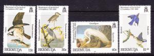 BERMUDA  1985  BIRDS  SET 4  MNH