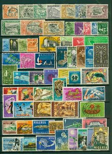 Nigeria collection with a good range of issues will benefit  Used Stamps