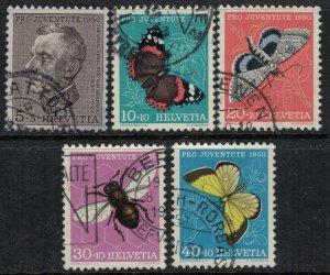 Switzerland #B196-200  CV $23.95