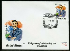 GUINEA BISSAU 2019 150th BIRTH OF MAHATMA GANDHI   STAMP FIRST DAY COVER