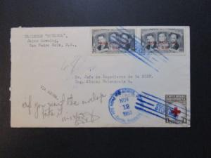 Honduras 1953 SC# C206 (x2) On Airmail Cover - Z3783