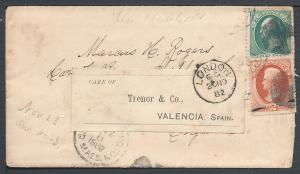 Scott #158, #178, To England redirected to Spain, Usages ...