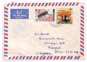 RWANDA Cover 1980 Air Mail Devon BEETLES MUSHROOMS {samwells-covers} XX90