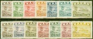 Nauru 1937 set of 14 SG26B-39B Fine Lightly Mtd Mint