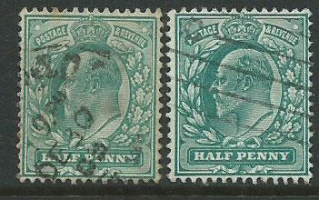 Great Britain - Edward VII SG 215 & SG 216