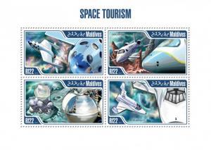 MALDIVES 2013 SHEET SPACE TOURISM mld13403a