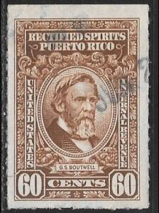 Puerto Rico, 60c G.S. Boutwell Rectified Spirits, used, VF+