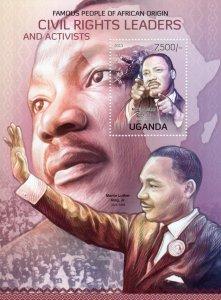 UGANDA 2012 MARTIN LUTHER KING Jr. Souvenir Sheet (1) MNH
