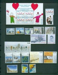 Greenland. 2007 Lot. MNH. 18 Stamps. 1 Souvenir Sheet.
