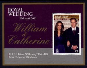 British Indian Ocean Territory Sc# 426 MNH Royal Wedding (S/S)