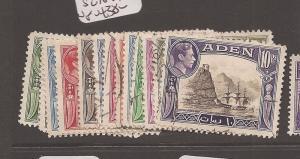 Aden KGVI SG 16-27 VFU (8azl)