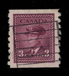 CANADA - 1943 - SG 392 3c PURPLE Coil Stamp FINE USED