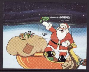 Dominica-Sc #715-Unused NH sheet-1981 Christmas-Santa's Work
