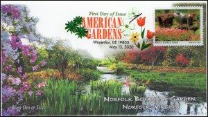 20-118, 2020, American Gardens, Digital Color Postmark, First Day Cover, Norfolk