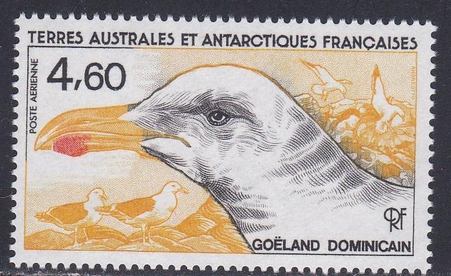 French Southern Antarctic Territory # C91, Sea Gulls, NH, 1/2 Cat.