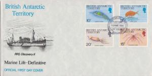 British Antarctic Territory Scott 110-112 Unaddressed.