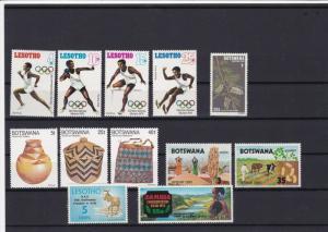lesotho botswana mounted mint stamps ref 16342