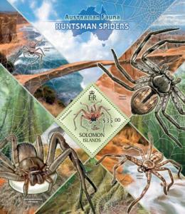 SOLOMON ISLANDS 2013 SHEET HUNTSMAN SPIDERS WILDLIFE slm13404b