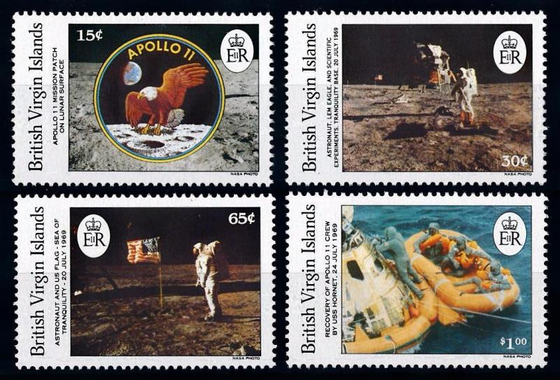 [66115] British Virgin Islands 1989 Space Travel Weltraum Apollo 11  MNH