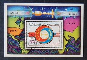 Space Republic of Upper Volta Block Sous - Apollo (TS-1653)