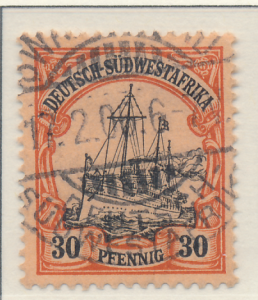 German South West Africa Stamp Scott #18, Used - Free U.S. Shipping, Free Wor...