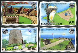 Montserrat 461-464, MNH. Fort St. George, Fox's Bay, The Museum, Battery, 1981