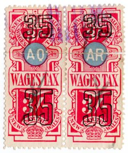 (I.B) Australia - NSW Revenue : Wages Tax 3/-