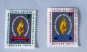 UN, NY. 121-22, MNH Set. Flame. SCV - $0.50