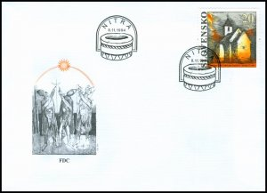 Slovakia 1994 FDC 44 The Church of St. George at Kostoľany pod Tríbečom