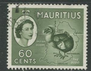 Mauritius - Scott 261 - QEII Pictorial Definitives -1953 -Used -Single 60c Stamp