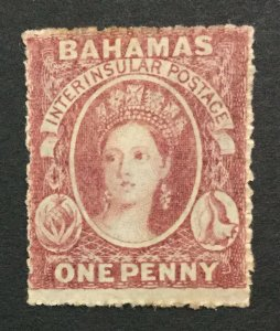 MOMEN: BAHAMAS SG #4 NO WMK 1861 MINT OG H LOT #192547-1127