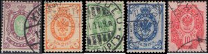 Finland #70-74, Complete Set(5), 1901-1904, Used