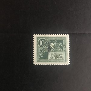 Scott #E7 Special Delivery 10c Green Used VF-XF Very light cancel