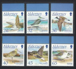 Alderney Migrating Birds 4th series Waders 6v Top Margins SG#A259-64