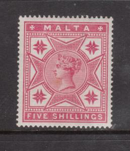 Malta #14 Very Fine Mint Very Lightly Hinged