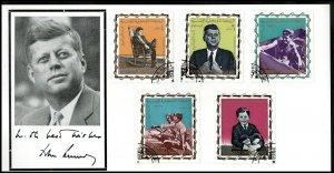 1965 J F Kennedy President Kennedy Commemoration 1917-1963 Yemen on Card