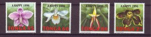 J25474 JLstamps 1995 tonga parts of set used #908,911-13 flowers