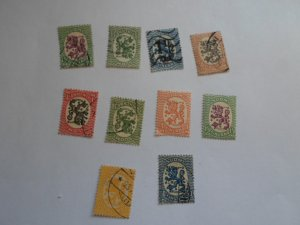 FINLAND STAMPS LOT OF 10 stamps ( used ) # 4