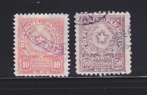 Paraguay 478, 480 U Coat Of Arms